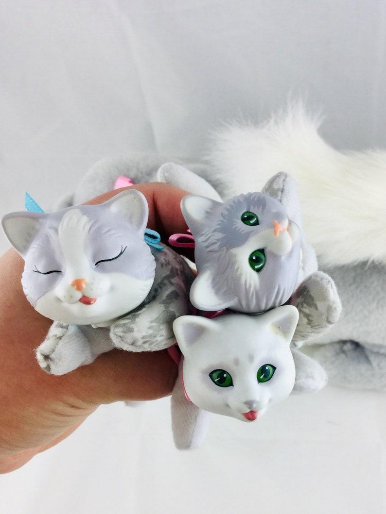 Vintage 1992 Kitty Surprise With 3 Kittens Plush Stuffed Toy Retro 90s Toys