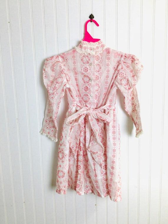 Vintage 70s Girls Prairie Dress Gunne Sax Style R… - image 7