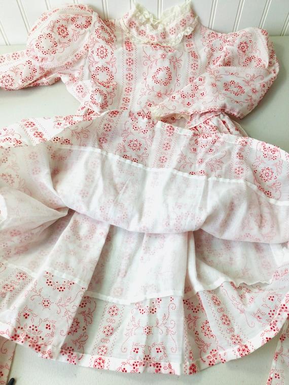 Vintage 70s Girls Prairie Dress Gunne Sax Style R… - image 3
