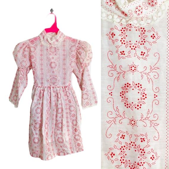 Vintage 70s Girls Prairie Dress Gunne Sax Style R… - image 1