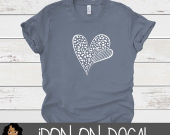 Heart Iron On Decal