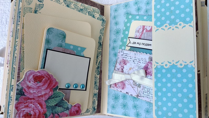 Keepsake book Personalized Scrapbook Photo Album Bridal Shower Gift for her Graduation Photo album Honeymoon Customized Wedding