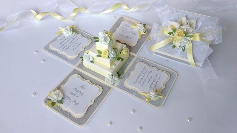 Wedding money card Wedding explosion box Bride and groom card Weding money gift box Wedding cards 3D wedding card Wedding card in box