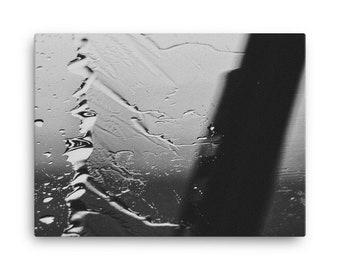 Streak of Rain Black and White Canvas 18x24