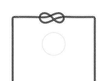 Digital Download - Nautical Rope Border for Cornhole Board Design