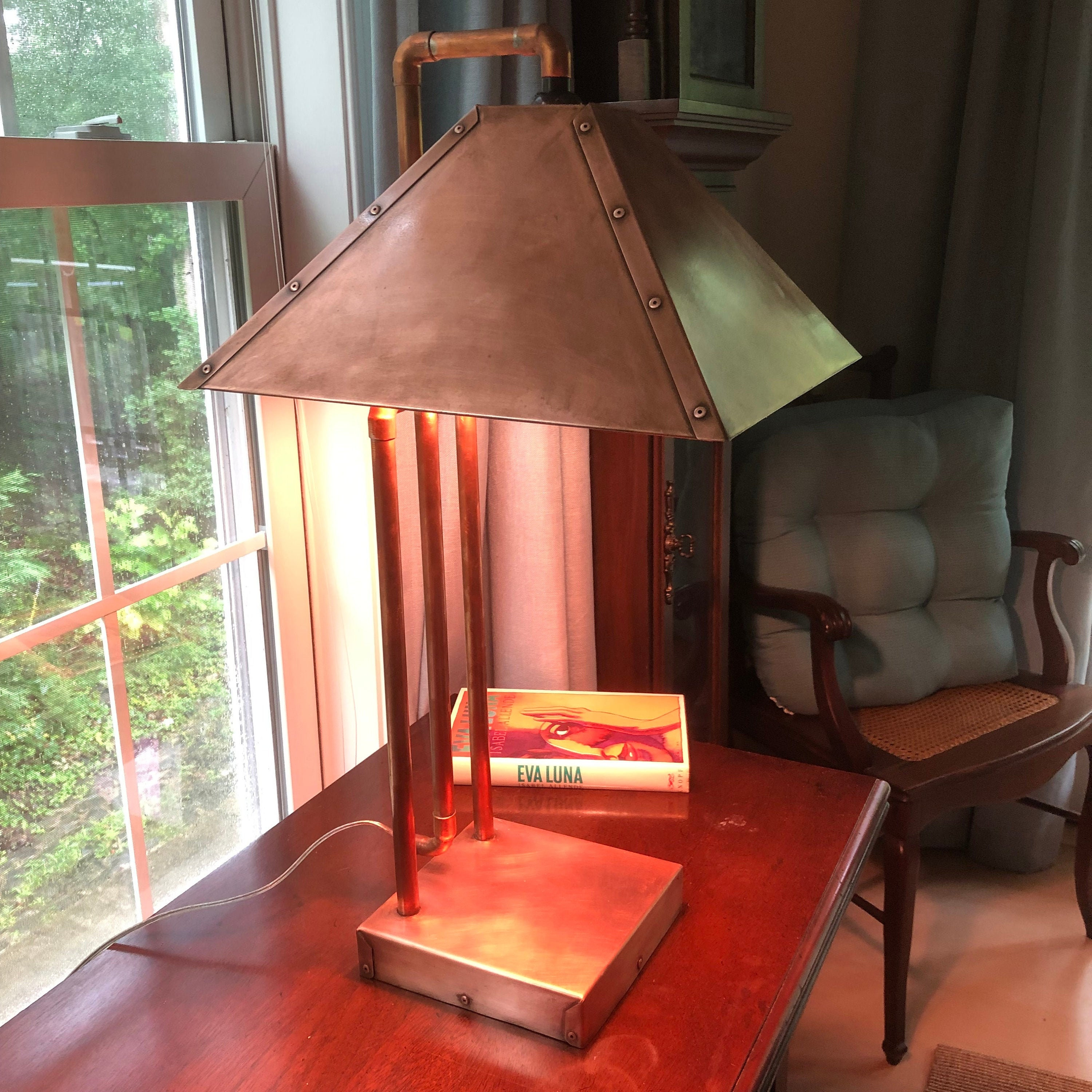 Mission Style Copper Lamps, Arts and Crafts copper or steel lamp 25