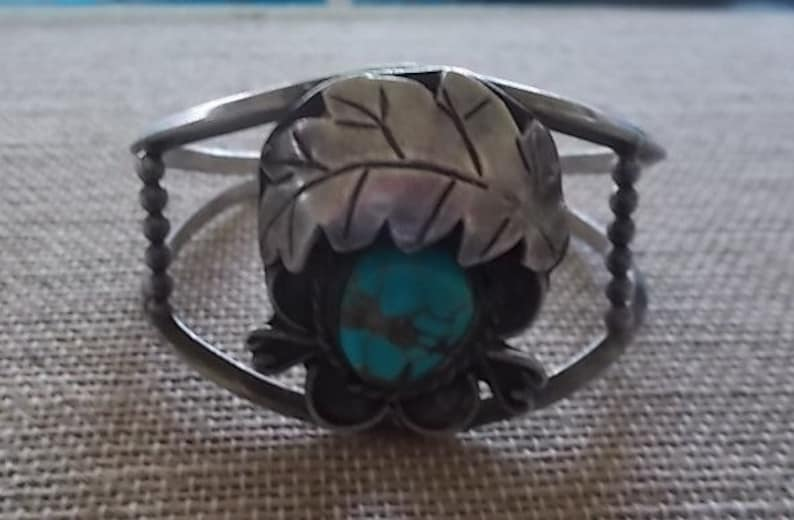 Vintage~Antique~Sterling Silver~Turquoise~Cuff~Bracelet~Navajo~Big~Solid~Native American~925~Fine Jewelry~Handmade~Womans~Harley~Hippie~Boho