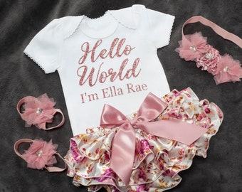 f369a0388986 Baby girl coming home outfit
