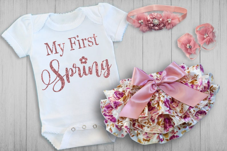 c8e5eeea9b390 BABY GIRL Coming Home Outfit, Newborn, personalized, baby girl gift, baby  shower gift, baby girl outfit, new mom, My First Spring Baby Girl
