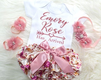 newborn girl coming home outfit personalized