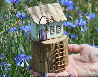 Scandinavian House Little Wooden House Rustic House Cute House Small House Mini House Sweet House Wooden Gift Unusual Miniature Home Decor