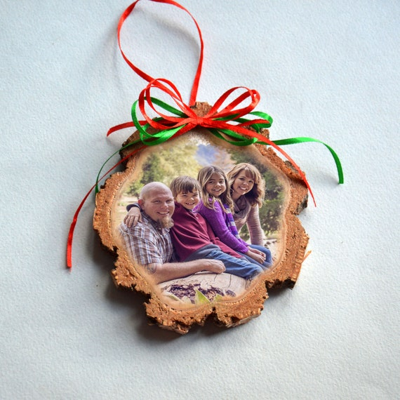 Christmas Picture Ornament For Dad Personalized Wooden Photo Etsy