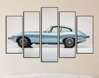 Any colour E Type Jaguar Convertible Classic Car  Vinyl wall art decal sticker