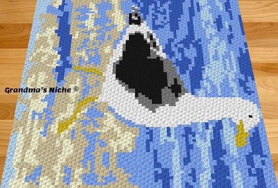 Sea Gull Crochet Blanket Pattern Sea Gull C2c Tunisian Etsy