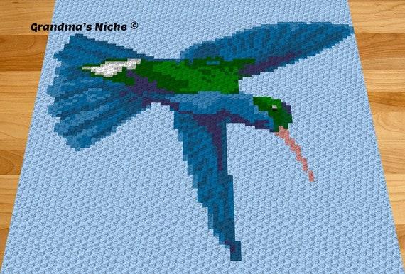 Hummingbird Crochet Blanket Pattern Hummingbird C2c Etsy