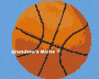 "Basketball - Crochet Blanket C2C Pattern, ""Written instructions"", Tunisian crochet, Graphghan, Cross Stitch, Knitting, latch hook, etc."