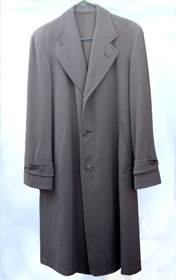 1950s Stylin' Men's Gabardine Coat