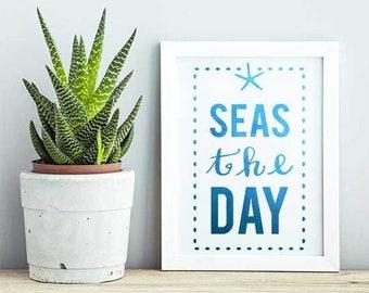 Seas the Day Craft Stencil by Crafty Stencils