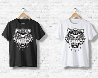 Kids t-shirt Kenzo Paris 8 10 12 14 16 years Tiger black or white logo