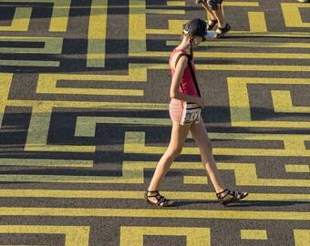 Paris Photography labyrinth maze walking adolescant fine art print