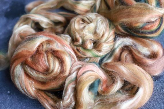 Sample combed top 32 - 118g / Roving / Merino Wool Tops / Blends wool for spinning and felting / Handblended Wool / Handgezogene Wolle