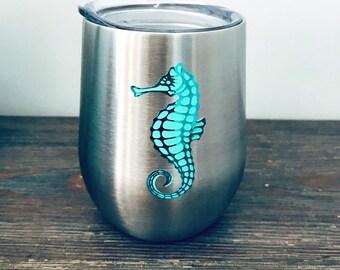 Seahorse Wine Tumbler