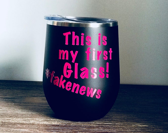 fakenews wine glass