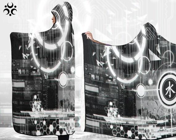TECHNO TOKYO Hooded Blanket