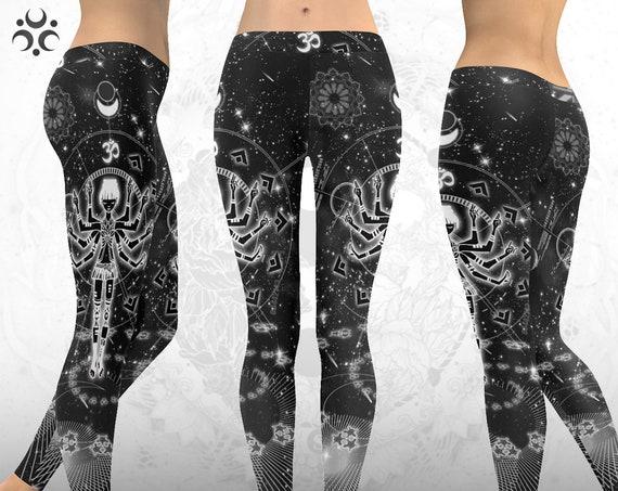 ETERNAL OM Leggings ~ Psytrance Leggings ~ Cyberpunk Clothing ~ Goa Goth EDM Psy Trance Clothing