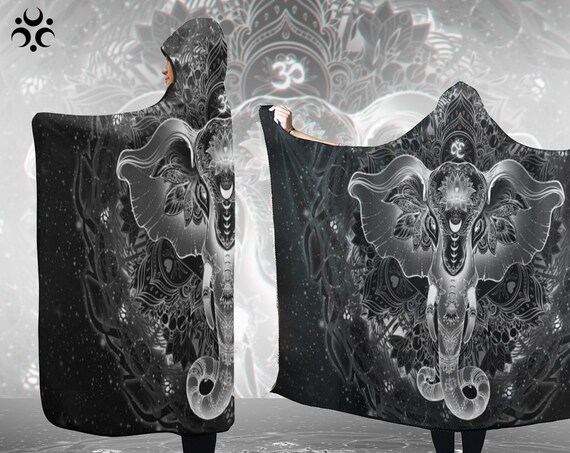 SACRED ELEPHANT Hooded Blanket