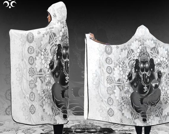 GANESHA Hooded Blanket