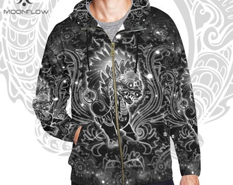 Psychedelic Hoodie Sacred Geometry Music Festival Clothing Burning Man clothing Futuristic Clothing Ravewear Rave Clothes EDM Hippie Clothes