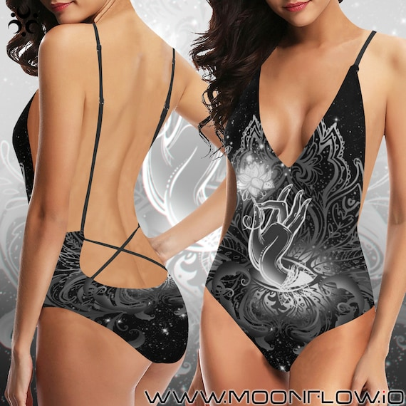 GUIDING LIGHT Laced Backless One Piece Swimsuit