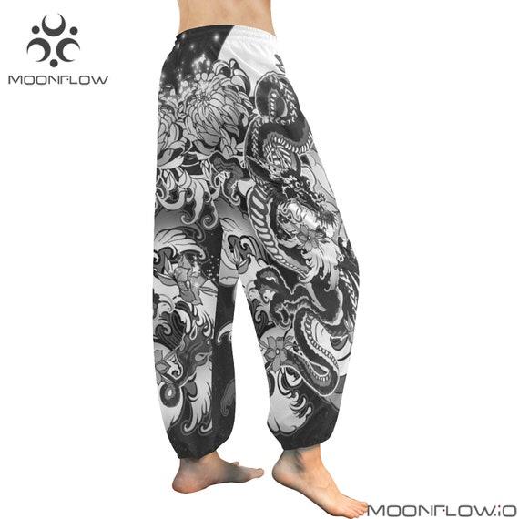 Yoga Women Harem Black Pants Clothing Clothing Pants Harem Mens EDM Geometry Pattern Pants Pants Harem Clothing Sacred Psychedelic Festival 5z4wq