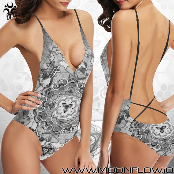 CORE NEXUS Laced Backless One Piece Swimsuit
