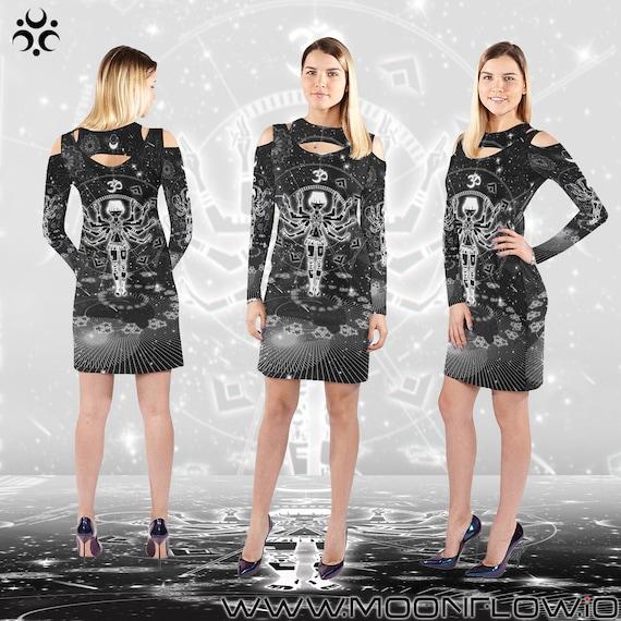 Dress Clothing Dress Dress Dress Clothes Art Clothing GOA Visionary Psytrance Trance Psytrance Goa Psychedelic Clothing Goa Goa Psy EDM W0qHa1azy