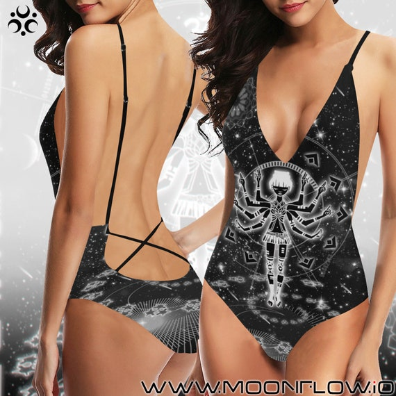 ETERNAL OM Laced Backless One Piece Swimsuit