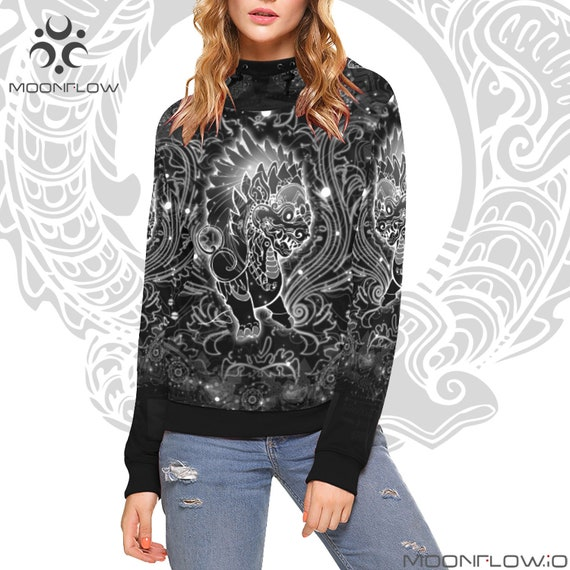 Festival Clothing Futuristic Clothing Hoodie Psychedelic Trippy Outfit Psytrance Clothing Trance Rave Music Clothing Neck Psy High Hippie qAHF7w
