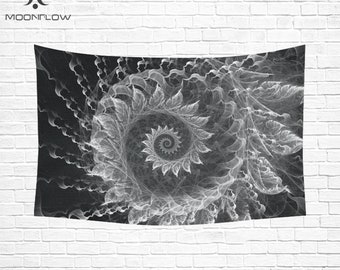KRYSTAL SPIRAL Psychedelic Tapestry Fabric Wall Hanging Wall Quilt Trippy Woven Wall Hanging Mandala Tapestry Mandala Wall Art Wall Tapestry