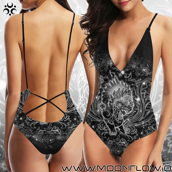 STAR DRAGON Laced Backless One Piece Swimsuit