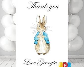 Personalised Peter Rabbit  Birthday Kids Party Thank You Cards Notes Pack Of 10 Any Name Any Wording