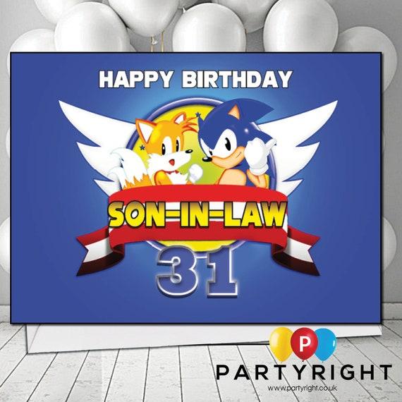 Personalised Sonic Birthday Card