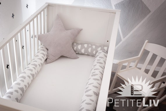 Babybed Aan Bed.Bed Snake Colorfulpink Triangle Nursery Cot Bumper Babybed Baby Protection Pad Playpencluds Grey White Toddler Child Bed Roll Pillow Cushion
