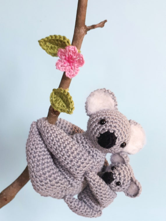 Koala Crochet Pattern Mom And Baby Koala Stuffed Animals Etsy