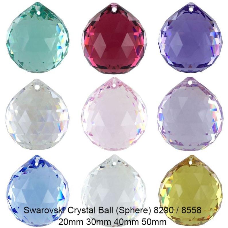 Swarovski 8290 8558 Sphere Crystal Ball Genuine Hanging  0f35e115828e