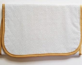 Mini Polka Dot Travel Changing Pad Waterproof