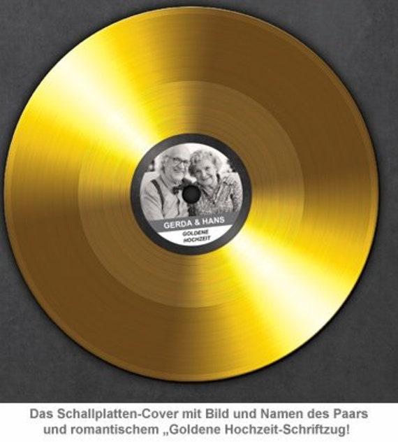 Personalisiertes Bild Schallplatte Zur Goldenen Hochzeit