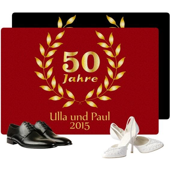 Fußmatte Goldene Hochzeit Mit Personalisierung