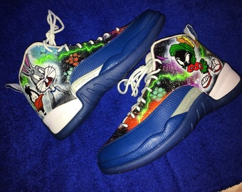 the best attitude 07778 ff5f9 Jordan 12s custom space jam