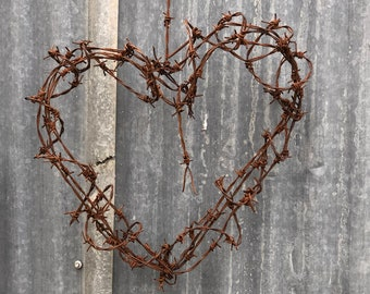 Barbed wire love heart